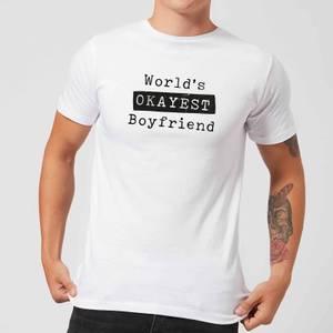 World's Okayest Boyfriend Men's T-Shirt - White