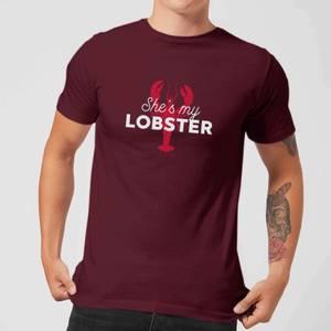 She's My Lobster Men's T-Shirt - Burgundy