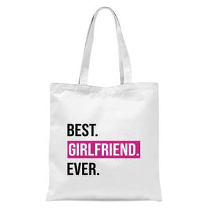 Best Girlfriend Ever Tote Bag - White