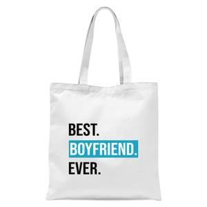 Best Boyfriend Ever Tote Bag - White