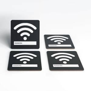 Wifi Password Coaster Set