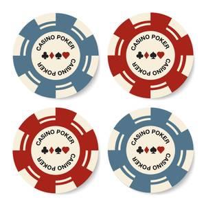 Poker Chips Coaster Set