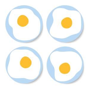 Fried Egg Coaster Set