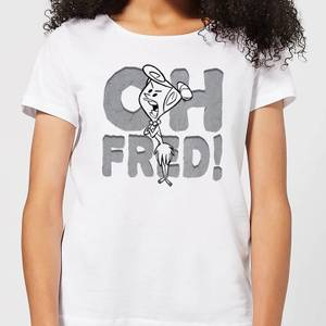 The Flintstones Oh Fred! Women's T-Shirt - White