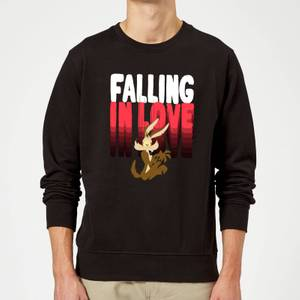 Looney Tunes Falling In Love Wile E. Coyote Sweatshirt - Black