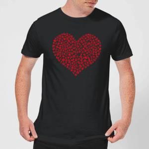 Super Mario Items Heart Men's T-Shirt - Black