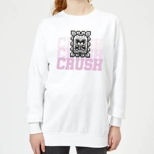 Super Mario CRUSH CRUSH CRUSH Women's Sweatshirt - White