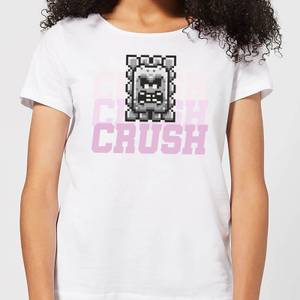 Super Mario CRUSH CRUSH CRUSH Women's T-Shirt - White