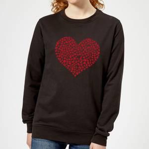 Super Mario Items Heart Women's Sweatshirt - Black