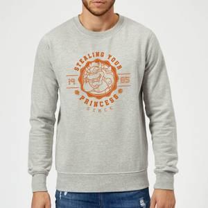 Super Mario Princess Stealer Sweatshirt - Grey