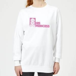 Super Mario His Princess Women's Sweatshirt - White