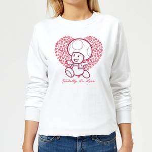 Felpa Super Mario Toadally In Love - Bianco - Donna