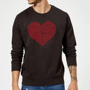Super Mario Items Heart Sweatshirt - Black