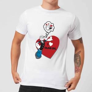 Popeye I Love Olive Oyl Men's T-Shirt - White