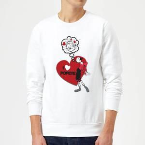 Popeye I Love Popeye Sweatshirt - White