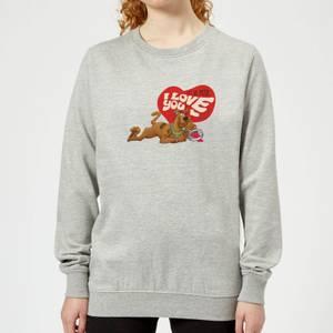 Scooby Doo It's No Mystery I Love You Women's Sweatshirt - Grey