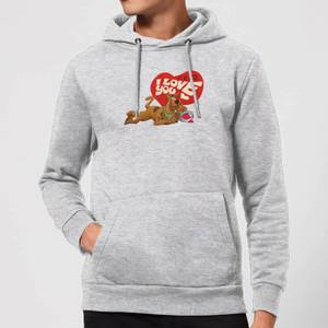 Scooby Doo It's No Mystery I Love You Hoodie - Grey