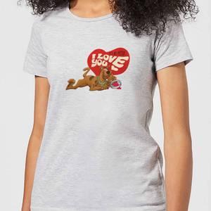 Scooby Doo It's No Mystery I Love You Women's T-Shirt - Grey