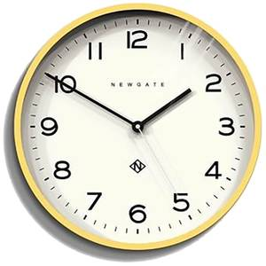 Newgate Number Three Echo Wall Clock - Cheeky Yellow