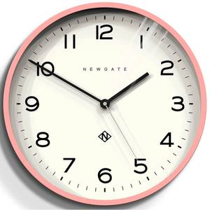 Newgate Number Three Echo Wall Clock - Marshmallow Pink