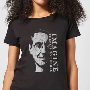 Imagine There's No Europe Women's T-Shirt - Black