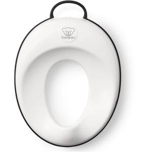 BABYBJÖRN Toilet Training Seat - White and Black Trim