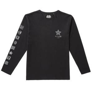 Nintendo Original Hero Kingdom Icons Long Sleeve T-Shirt - Black