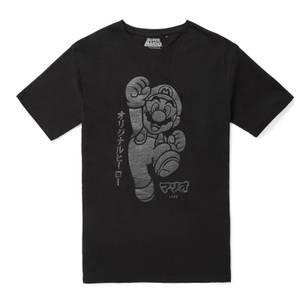 Nintendo Original Hero Mario Here We Go T-Shirt - Black