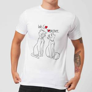 Disney Aristocats We Go Together Men's T-Shirt - White