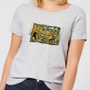 The Flintstones Vintage Women's T-Shirt - Grey