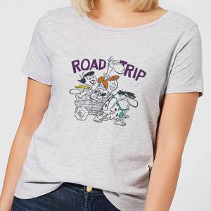 The Flintstones Road Trip Women's T-Shirt - Grey