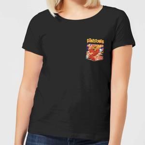 The Flintstones Pocket Pattern Women's T-Shirt - Black