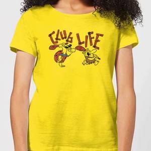 The Flintstones Club Life Women's T-Shirt - Yellow