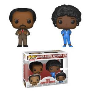Lot de 2 Figurines Pop! The Jeffersons George & Louise EXC