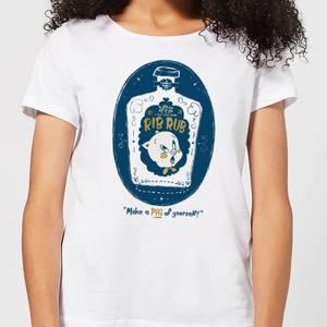 Looney Tunes ACME Rib Rub Women's T-Shirt - White