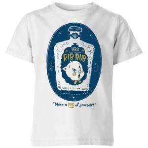 Looney Tunes ACME Rib Rub Kids' T-Shirt - White