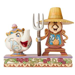 Disney Traditions Workin' Round the Clock (Mrs. Potts and Cogsworth Figurine) 13.0cm