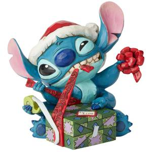 Disney Traditions Bad Wrap (Stitch with Santa Hat Figurine) 13.0cm