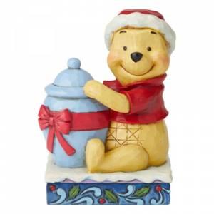 Holiday Hunny, Figurine Winnie l'ourson de Noël– Disney Traditions