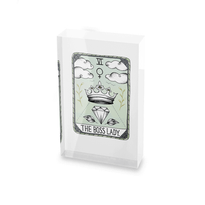 Barlena The Boss Lady Glass Block - 80mm x 60mm