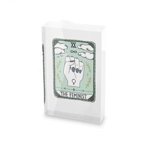 Barlena The Feminist Glass Block - 80mm x 60mm