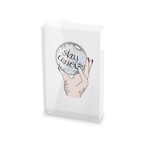 Barlena Stay Curious Glass Block - 80mm x 60mm