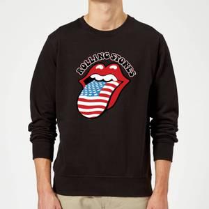 Rolling Stones US Flag Sweatshirt - Black