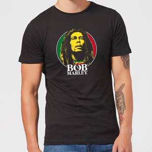 Bob Marley Face Logo Men's T-Shirt - Black