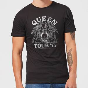 Queen Tour 75 Herren T-Shirt - Schwarz