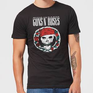Guns N Roses Circle Skull Men's T-Shirt - Black