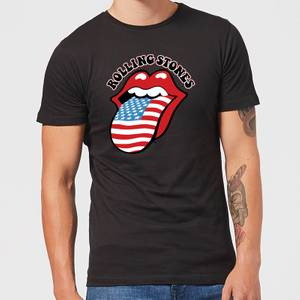 Rolling Stones US Flag Herren T-Shirt - Schwarz