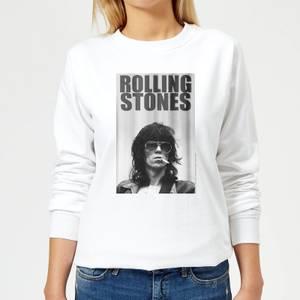 Rolling Stones Keith Smoking Women's Sweatshirt - White