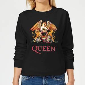Queen Crest Women's Sweatshirt - Black