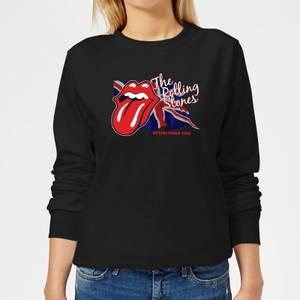 Rolling Stones Lick The Flag Damen Sweatshirt - Schwarz